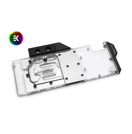 EK vannblokk for skjermkort, EK-Vector Radeon RX 5700 +XT RGB - Nickel + Plexi