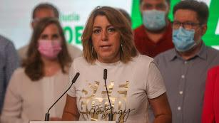 Susana Díaz, anoche.