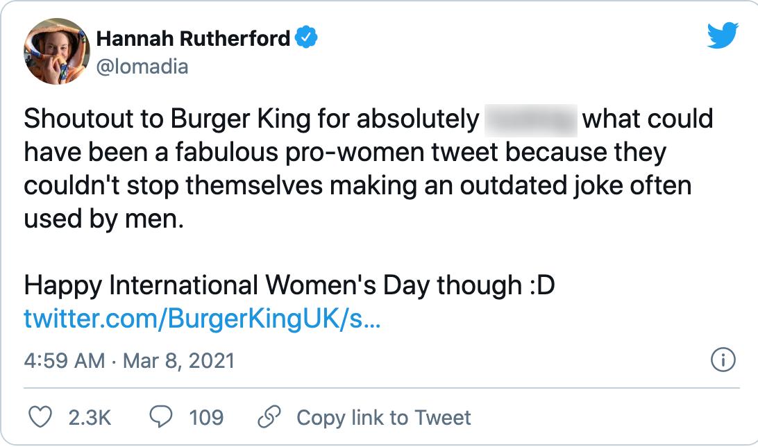 Burger King Response