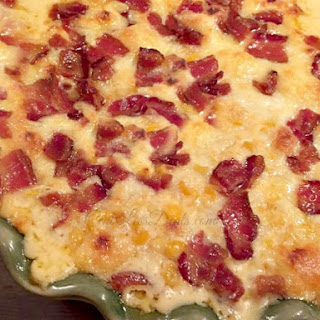 3 Cheese Corn Casserole with Bacon