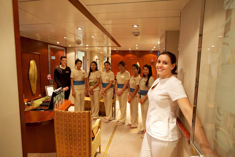 The Spa aboard SeaDream is staffed with professionals skilled in Thai massage and other treatments.