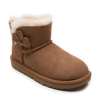 UGG Australia Mini Bailey Button Poppy BOOT