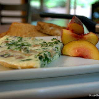 Egg White Frittata with Kale and Mushrooms.