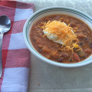 Easy Crockpot Turkey Veggie Chili