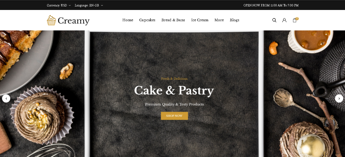 opencart bakery theme creamy
