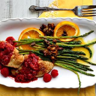 Chicken Cutlets with Raspberries.