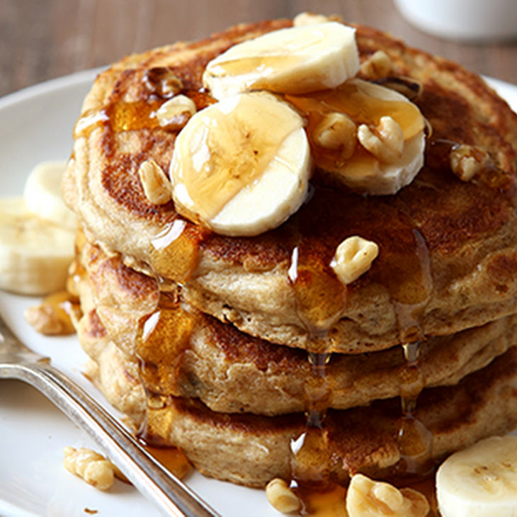 Whole Wheat Banana Nut Pancakes Recipe | Yummly