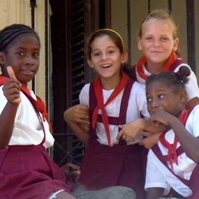 Cuban school girls by Eason Jordan - People Street & Candids