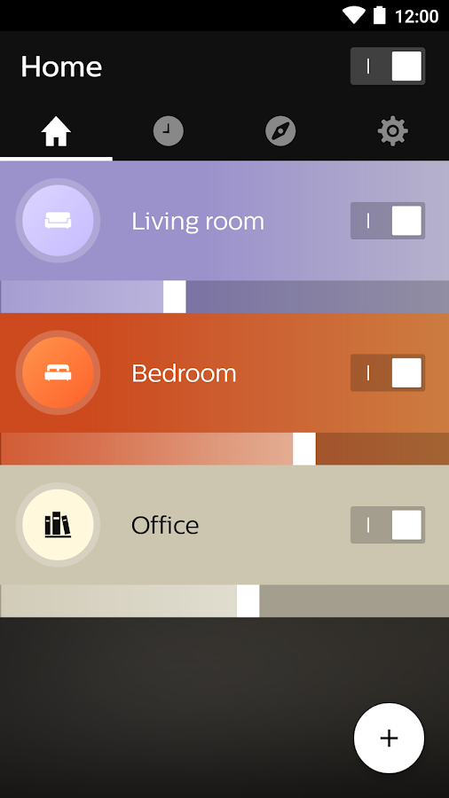Philips Hue- screenshot
