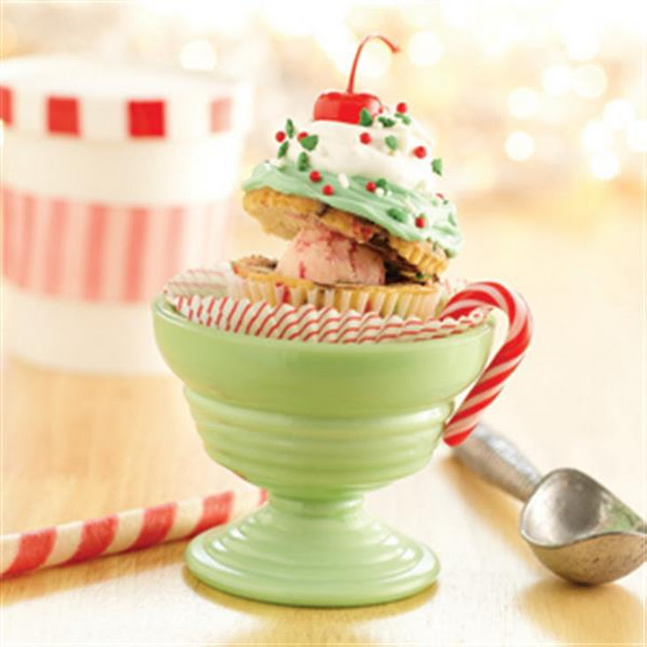 Funfetti® Holiday Sundae Cupcakes