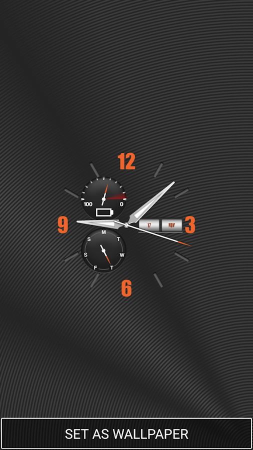 Live Clock Wallpaper- screenshot