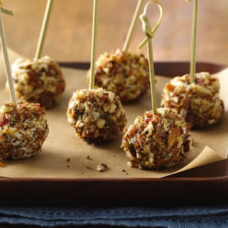 Goat Cheese and Bacon Pops.
