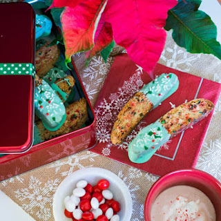 White Peppermint Holiday Biscotti