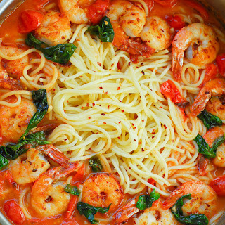 Shrimp Chicken Pasta Tomato Sauce Recipes.