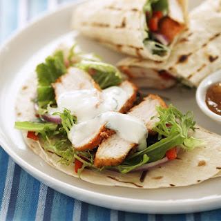 Tandoori Chicken Wraps with Yogurt Dressing