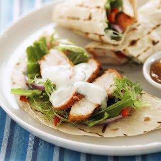 Tandoori Chicken Wraps with Yogurt Dressing.