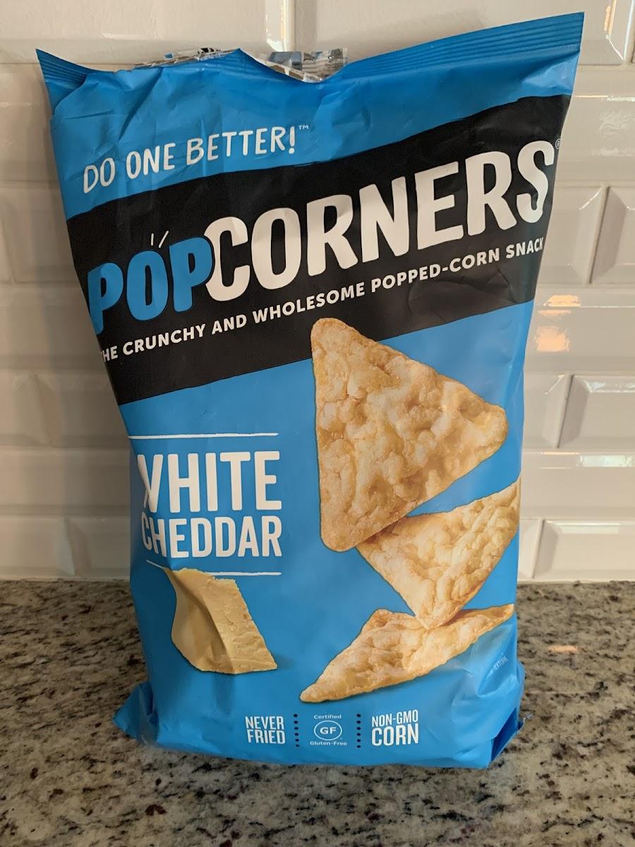 White Cheddar Popped Corn Snack