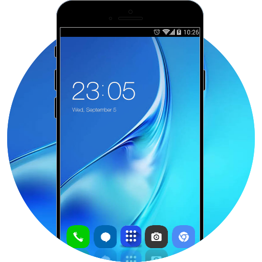 Theme of Galaxy J7 Prime HD