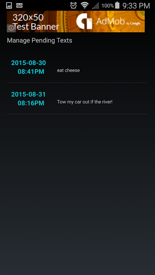 Text Message Scheduler- screenshot