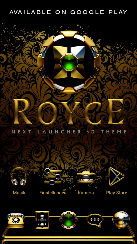 ROYCE Digital Clock Widget- screenshot