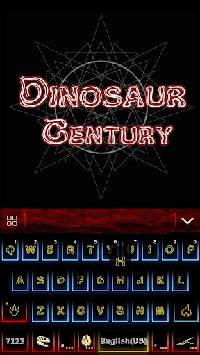 Dinosaur Kika Keyboard Theme