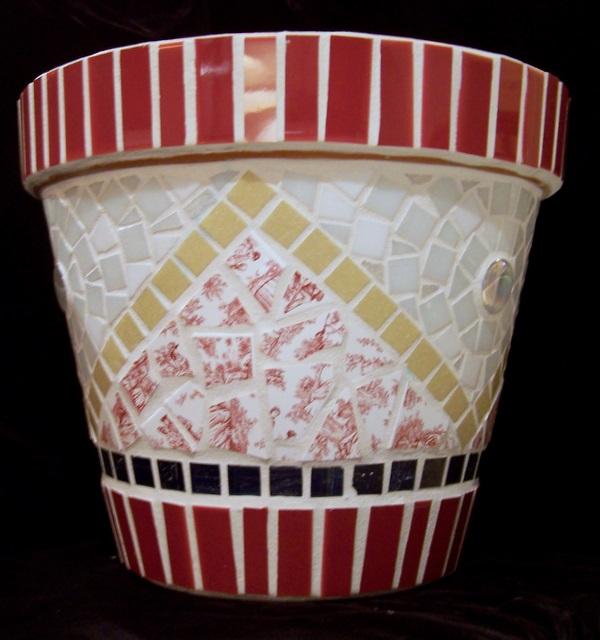 Stratford Mosaic Flower Pot