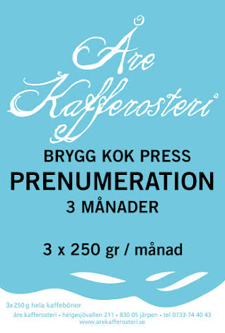 Prenumeration brygg / kok / press