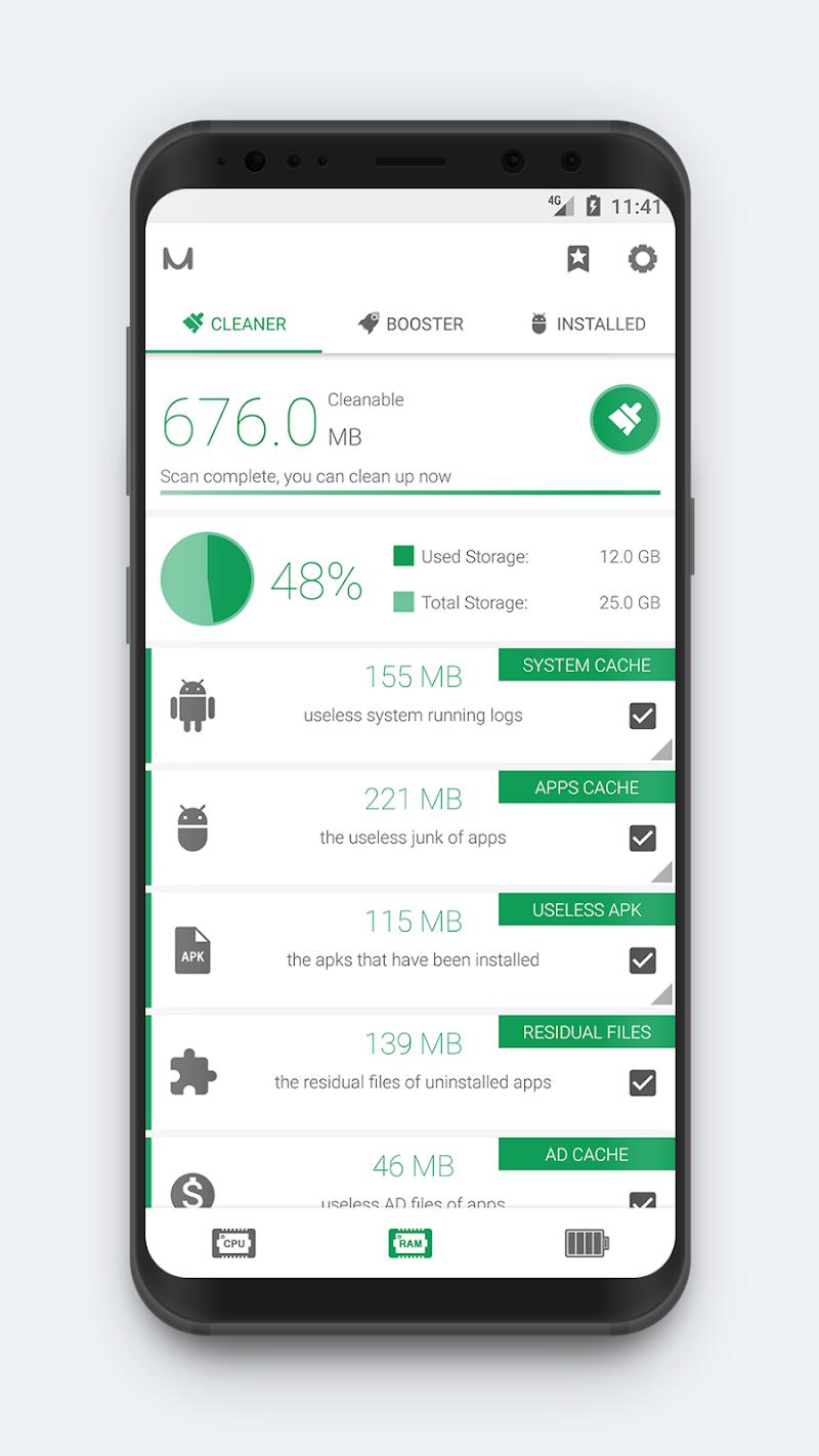 System Monitor - Cpu, Ram Booster, Battery Saver Screenshot 2