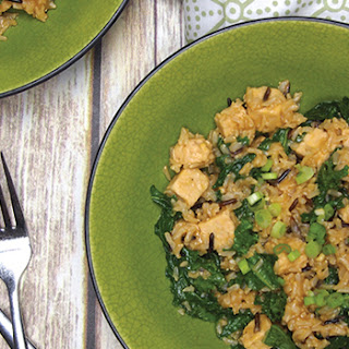 Kale and Wild Rice Salad with Tempeh