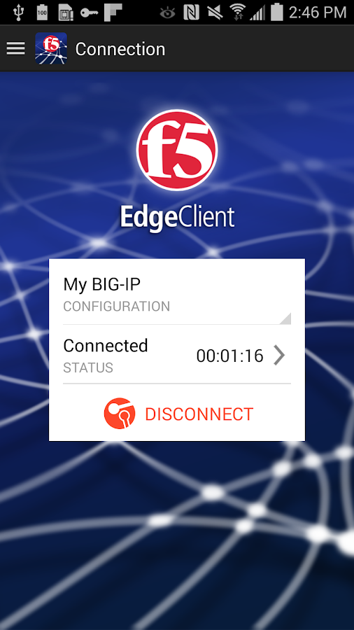 F5 BIG-IP Edge Client- screenshot