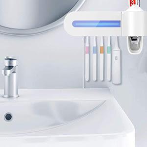 Dozator pentru pasta de dinti si sterilizator UV periute