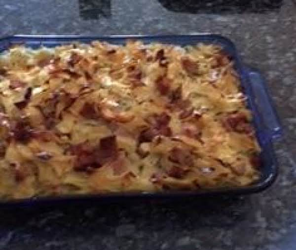 Finished Mom's Ham And Noodle Casserole