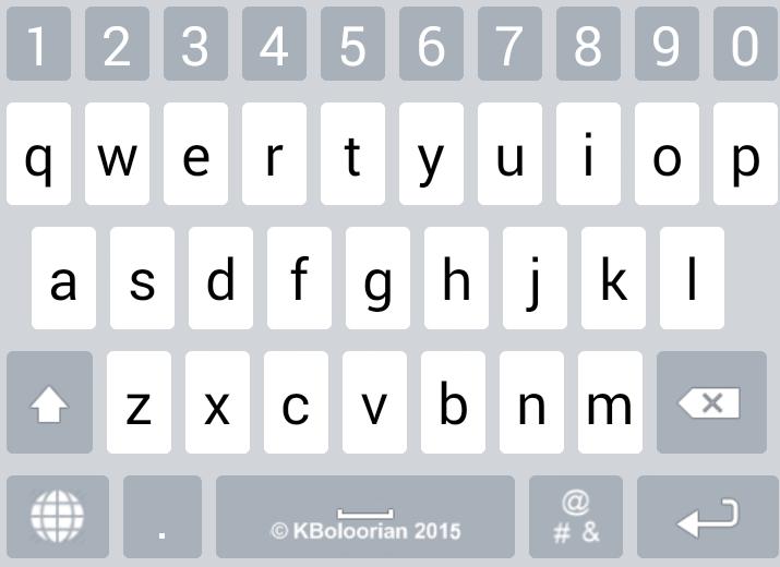 Farsi Keyboard screenshots