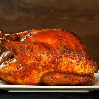 Buffalo Roasted Turkey with Blue Cheese Sauce.