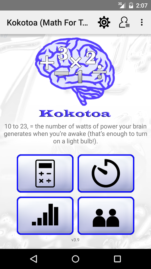 Kokotoa - (Math For the Brain) - screenshot