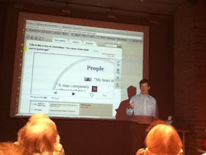 Photo: He used a wonderfully interactive presentation.