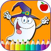 Happy Halloween Coloring Book Game
