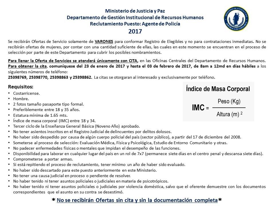 Imagen RECLUTAMIENTO PUESTO: AGENTE DE POLICÍA