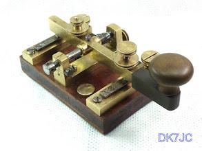 """Photo: Reichs-Telegraphentaste mit lautlosen Kontakten (Siemens Patent 1871) TAW RPA #1034   16.3.05  -Mix & Genest Berlin-  """"DL""""  #625"""
