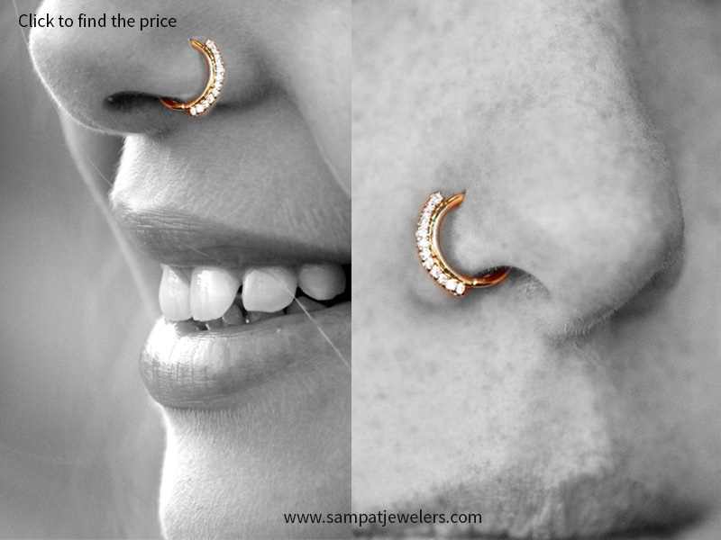 Nose Rings To Die For Designer Indian Diamond Jewelry