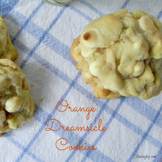Orange Dreamsicle Cookies.