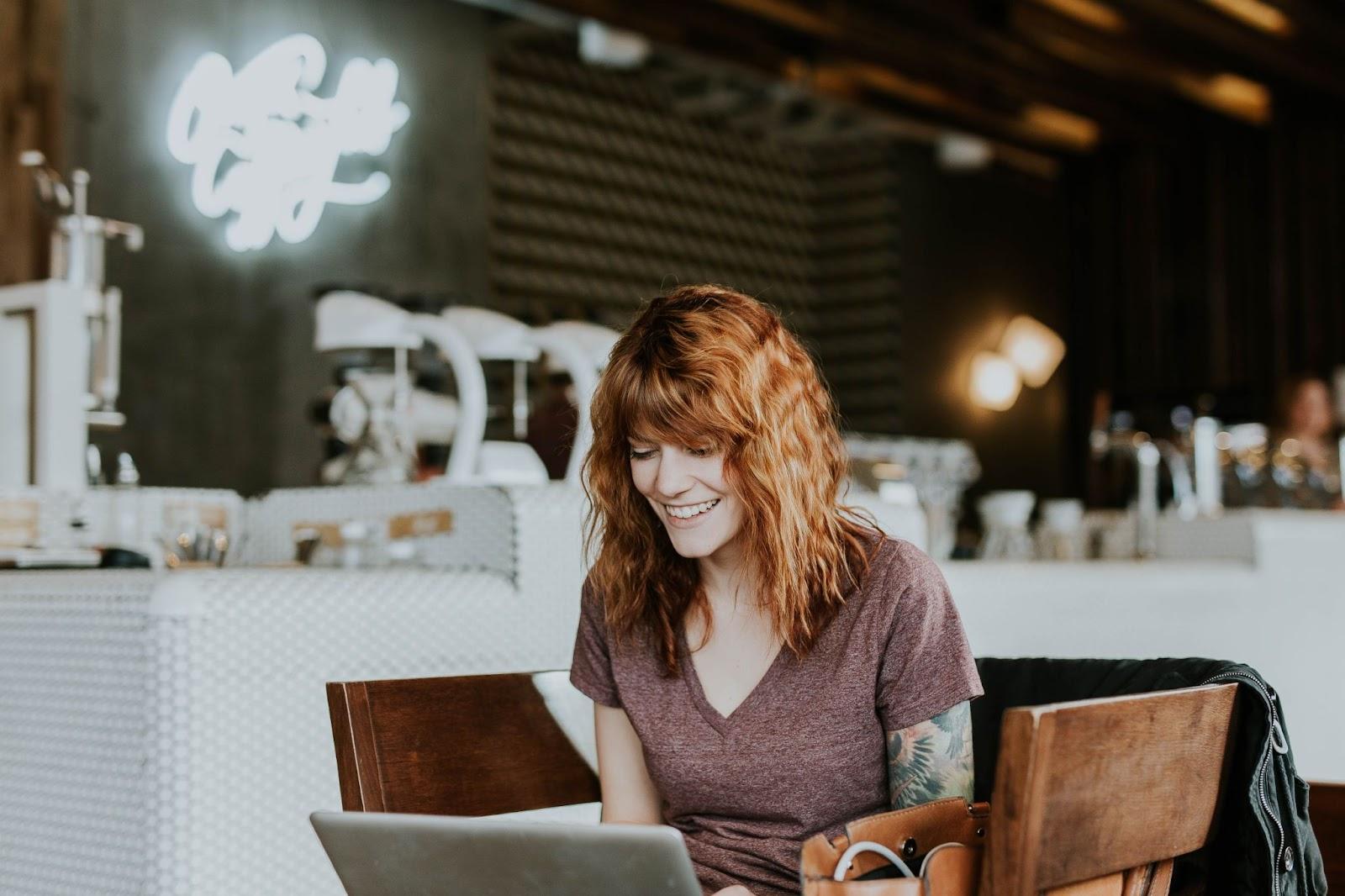 Women working on web