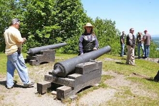 Photo: These are the cannons used to shoot at the fort.  The fort is behind me across the water.