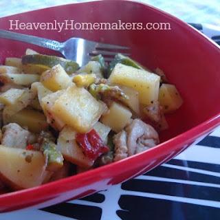 Garden Veggie Chicken Skillet Recipe {Quick, Easy, Healthy, and Delicious} Recipe
