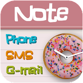 Pink note Total launcher theme