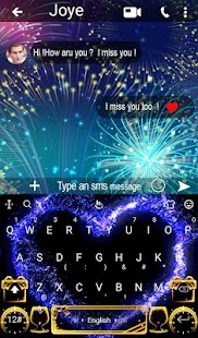 Live Happy New Year Keyboard Theme