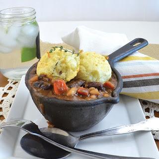 Vegan Kidney Bean Cottage Pie Bowl.