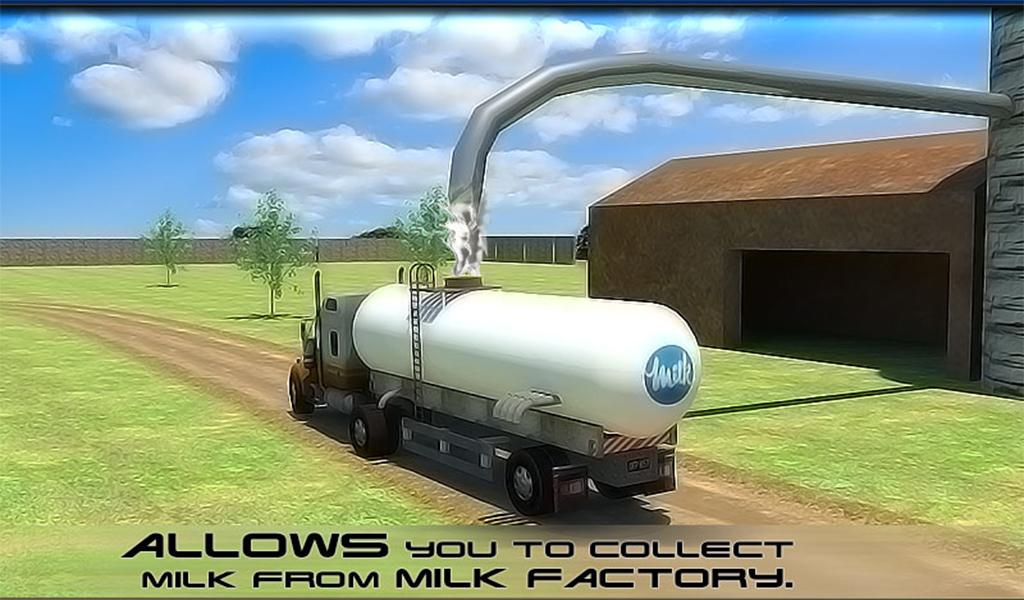 Transport Truck: Milk Supply- screenshot