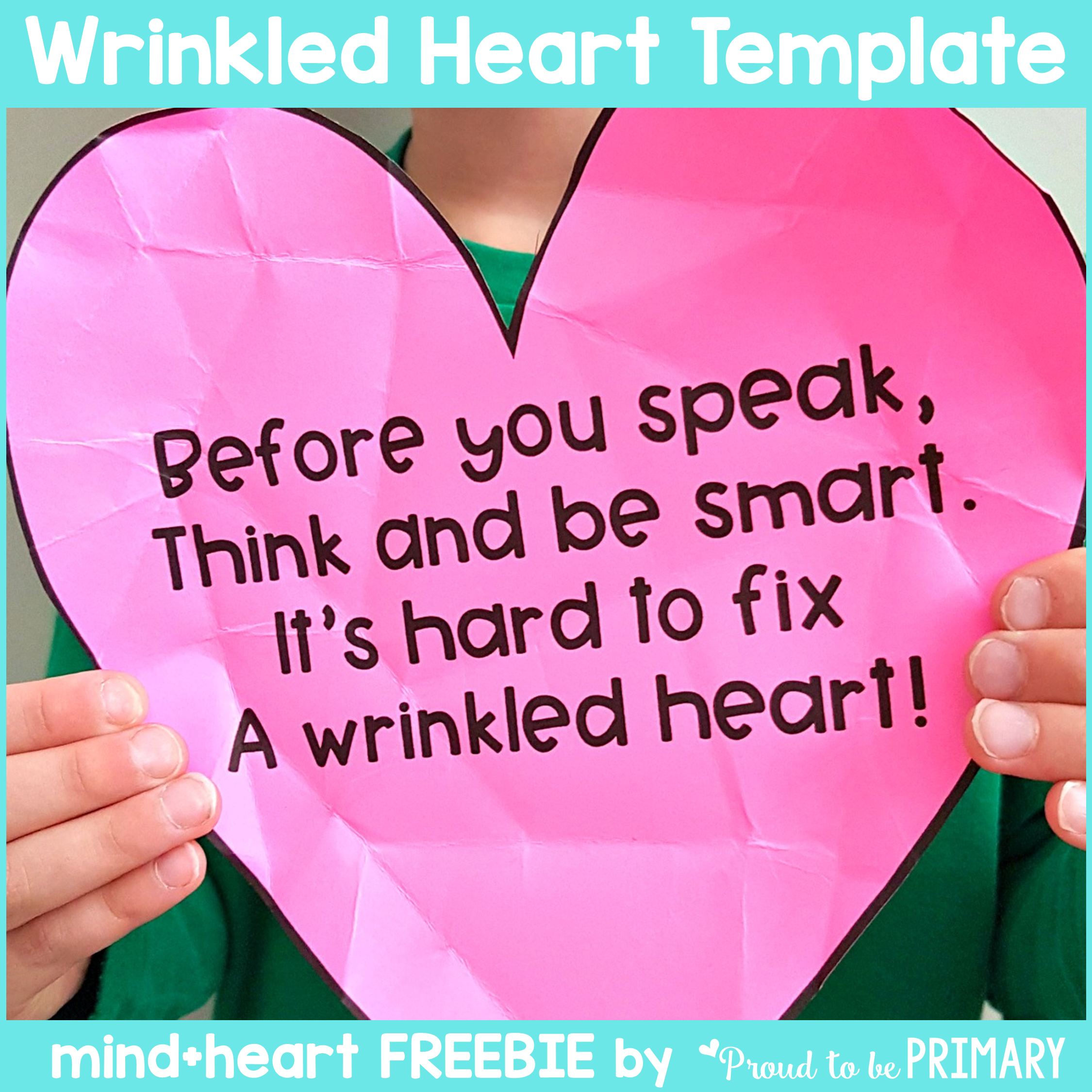 teaching empathy - free a wrinkled heart poem template