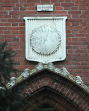 Photo: Grabkapelle und Wappen der Familie Glantz in Klein Niendorf bei Parchim